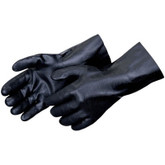 "Durawear Black PVC Work Glove, 14"" Gauntlet Length, Sandpaper Finish, 12 pair/pkg, Mfg# 2634"