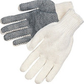 Durawear PVC Dot Coated String Knit Gloves, Single Sided Coating, 12 pair/pkg | Mfg# 15-1210PD