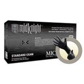 Microflex® MidKnight Powder Free Black Nitrile Glove, 100 each/box, 5 mil Thick, Mfg# MK-296