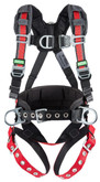 MSA EVOTECH® Construction Harness, Back, Front & Side D-Rings, Quick Connect Buckles, Standard Size, Mfg# 10112710