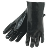 "Durawear 12"" Length Black PVC Gloves, Smooth Finish, Single Dipped, Interlock Lined, 12 pair/pkg, Mfg# 2233"