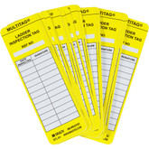 Brady LADDERTAG® Inserts, Yellow, Vinyl, 100 each/pkg