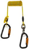 3M DBI Sala Hook2Hook Coil Tether (10 Pack), Tool lanyard, coil tether with swivel, 5 lb. (2.3 kg) capacity, single leg with self-locking carabiner hooks at both ends, Mfg# 1500160