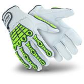 HexArmor Chrome Series 4080 Leather Impact Gloves, ANSI Cut Level A8, Mfg# 4080