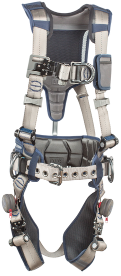 3M DBI SALA ExoFit STRATA Construction Style Harness, D-Rings on Front,  Back and Sides, Tri-Lock Revolver Buckles, Waist Pad and Belt