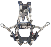 DBI SALA ExoFit STRATA Tower Climbing Harness, Tri-Lock Revolver quick connect buckles, Aluminum Back, Front and Side D-Rings, Waist Pad and Belt, Seat Sling with D-Rings