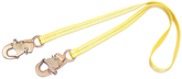 DBI Sala 1231102 Web Positioning Lanyard, 2 ft. (0.6m) Web Single-Leg With Snap Hooks at Each End
