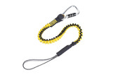 Python Safety Hook2loop Bungee Tether Tool Lanyard, Locking Carabiner, Medium Duty 35 lb Capacity, Mfg# 1500049