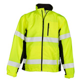 ML Kishigo Premium Black Series Windbreaker, Hi-Visibility Lime, Mfg# WB100