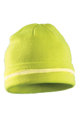 Occunomix Hi-Viz Yellow Knit Cap with Silver Reflective Stripe