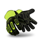 Hexarmor HEX1 2125 Glove, Hi-Visibility Yellow Color Scheme, Goat Skin Leather Palm