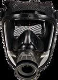 MSA Advantage 4100 Full Face Respirator, Single Port, Hycar, with Polyester Net Head Harness