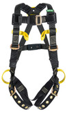 MSA Workman Arc Flash Full Body Harness, Vest Style, Standard Size, Back & Side Web Loop D-Ring, Front Belay Loops, Tongue & Buckle Leg Straps, Mfg# 10162694
