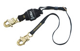 DBI Sala 1246317 Force2 Arc Flash Shock Absorbing Lanyard 6 ft. (1.8m) Adjustable Nomex/Kevlar Web Single-Leg