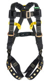 MSA Workman® Arc Flash Full Body Harness, Vest Style, Standard Size, Back Web Loop D-Ring, Front Belay Loops, Tongue & Buckle Leg Straps, Mfg# 10162690