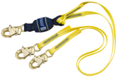 DBI Sala 1246161 Force2™ 100% Tie-Off Shock Absorbing Lanyard 6 ft. (1.8m) web Double-leg with snap hooks at each end