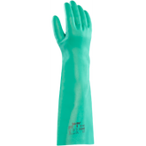 "Ansell® Solvex® 37-185 Green Nitrile Chemical Gloves, 18"" Elbow Length, 22 mil thickness, Unlined, 1 Pair/Pkg"