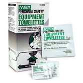 "MSA Personal Safety Equipment Towelettes, Box of 100 Individually Wrapped Towelettes, 7 1/4"" x 5"", Mfg # 697383"