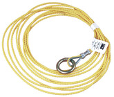 "DBI Sala Part No. 7211857 25 ft. (7.6 m) tagline for self retracting lifeline, 3/16"" (5 mm) polypropylene rope with O-ring at one end."