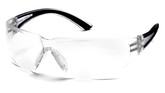 Pyramex Safety Cortez Safety Glasses, Clear Anti-Fog Lens with Black Temples, Part No. SB3610ST
