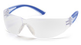 Pyramex Safety Cortez Safety Glasses, Clear Lens with Blue Temples, Part No. SN3610S