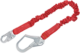 3M Protecta PRO Stretch Shock Absorbing 6 ft. Lanyard, Snap Hook On One End and Rebar Hook At Other End, Mfg# 1340121