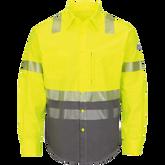 Bulwark FR Hi-Visibility Color Block Uniform Shirt, EXCEL FR® ComforTouch®  7 oz.