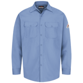 Bulwark FR SEW2LB Work Shirt, Light Blue, EXCEL FR®  7 oz. 100% Cotton