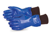 "Superior Glove N230FLK North Sea 11"" Winter Nitrile Coated Gloves, Knit Wrist, Sold in Pairs"