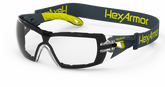 Hexarmor MX200G Safety Eyewear, Clear Lens with Foam Guard, TruShield S Coating, Mfg# 11-12001-04