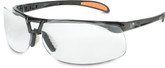 Uvex Protégé S4200X Safety Eyewear, Black Frame with Clear Uvextreme Anti-fog Lens