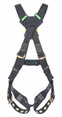 MSA Workman® Arc Flash Crossover Full Body Harness, Back Web Loop, Tongue Buckle Legs Straps, Standard Size, Mfg# 10152671