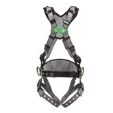 MSA V-FIT™ Construction Harness, Back & Hip D-Rings, Tongue and Buckle Leg Straps, Shoulder Padding
