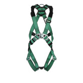 MSA V-FORM™ Full Body Harness with Back D-Ring, Qwik-Fit Leg Straps