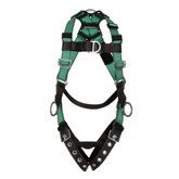 MSA V-FORM™ Full Body Climbing/Positioning Harness with Front, Back & Hip D-Rings, Tongue Buckle Leg Straps