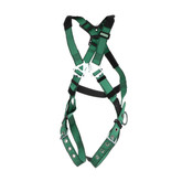 MSA V-FORM™ Full Body Harness with Back and Hip D-Rings, Tongue Buckle Leg Straps