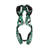 MSA V-FORM™ Full Body Harness with Back & Shoulder D-Rings, Tongue Buckle Leg Straps | Mfg # 10197219