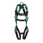 MSA V-FORM™ Full Body Climbing Harness with Back & Chest D-Rings, Qwik-Fit Leg Straps