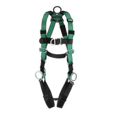 MSA V-FORM™ Full Body Climbing/Positioning  Harness with Back, Chest & Hip D-Rings, Qwik-Fit Leg Straps