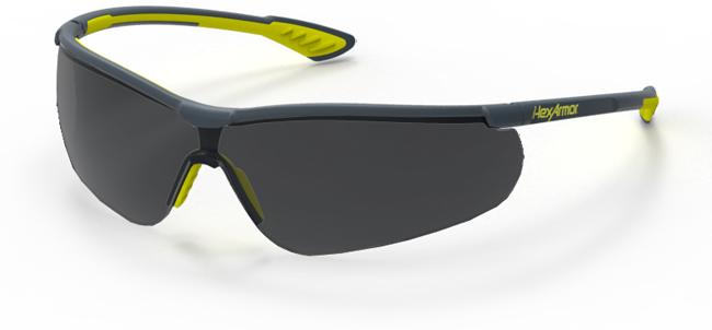 a0e5b75e5dea5 Hexarmor VS250 Safety Eyewear with TruShield-S Coating, Grey 23% Lens, Mfg#  11-15003-04, Sold By Each