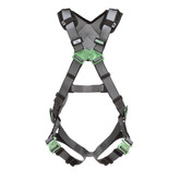 MSA V-FIT™ Full Body Positioning Harness with Back & Hip D-Rings, Quick-Connect Leg Straps, Shoulder Padding