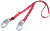 "Protecta Pro Lanyard, 6 ft x 1"", Nylon Web, Adjustable Length, Snap Hooks On Each End, Mfg# 1385301"
