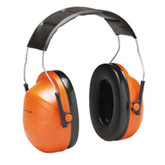 3M™ Peltor™ Hi-Viz Earmuffs Low Profile Deluxe Orange, NRR 24dB | Mfg# H31A