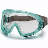 Pyramex Capstone Goggle with Clear Anti-Fog Lens, Green Frame, Adjustable Strap, Mfg# GC504T