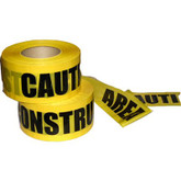 "Caution Construction Area Barricade Tape, 3""x 1000 ft 