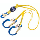 DBI Sala EZ-STOP® II Twin Leg Lanyard, Aluminum Rebar Hooks at Legs end, Capital Safety Mfg#1246021