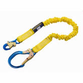 DBI Sala ShockWave2 6 ft. Elastic Web Lanyard with Aluminum Rebar Hook, Mfg# 1244311