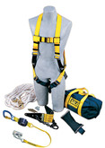 DBI Sala Part No. 2104168 Roof Anchor Kit, Includes: Roof Anchor, Rope Adjuster with Lanyard, Harness, 50' Lifeline,Counterweight & Bag