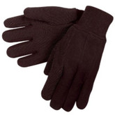 Durawear Brown Jersey Glove with PVC Dot Coating,  Sold 12 pair/pkg