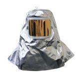 "Chicago Protective Apparel Fire Hood, 19 oz Aluminized Para Aramid Blend with 7"" x 11"" Window | Mfg# 0647-AKV"